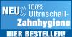 Überragende Dental Hygiene mit der ersten 100% Ultraschall Zahnbürste